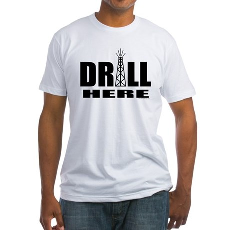 Drill Here Drill Now Fitted T-Shirt