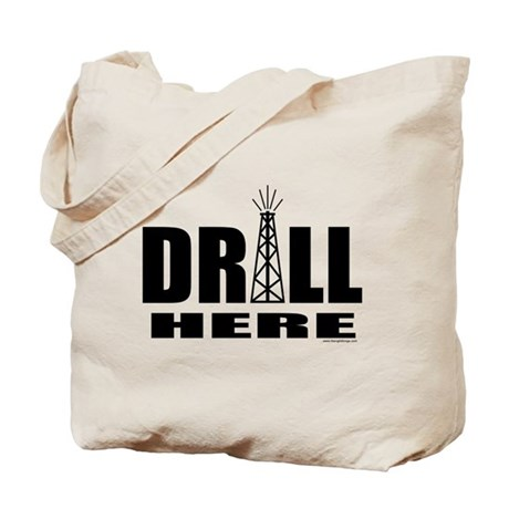 Drill Here Tote Bag