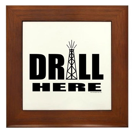 Drill Here Framed Tile