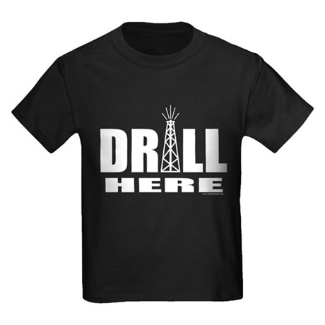 Drill Here Kids Dark T-Shirt