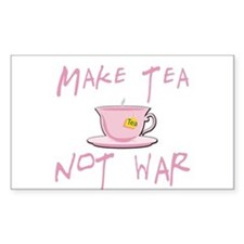 Make Tea not War Rectangle Decal