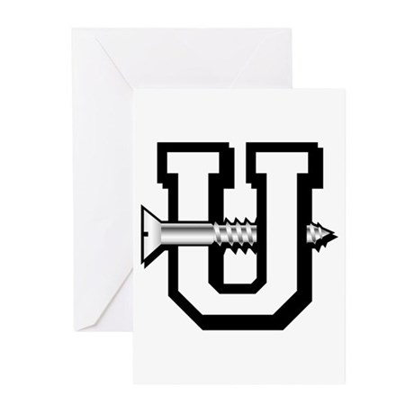 SCREW U Greeting Cards (Pk of 10)