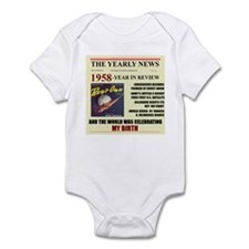 born in 1958 birthday gift Infant Bodysuit