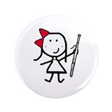 "Girl & Bassoon 3.5"" Button (100 pack)"