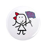 "Girl & Color Guard 3.5"" Button"