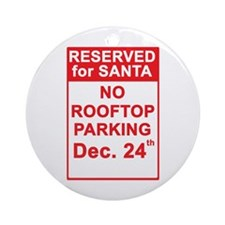 Reserved for Santa Ornament (Round)