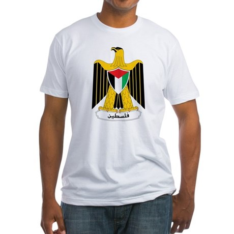 Palestine Coat Of Arms Fitted T-Shirt