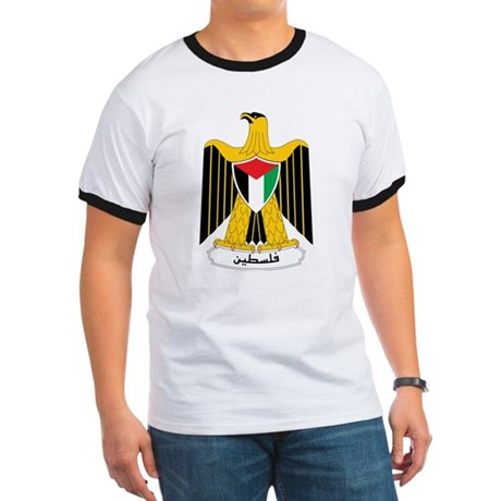 Palestine Coat Of Arms Ringer T