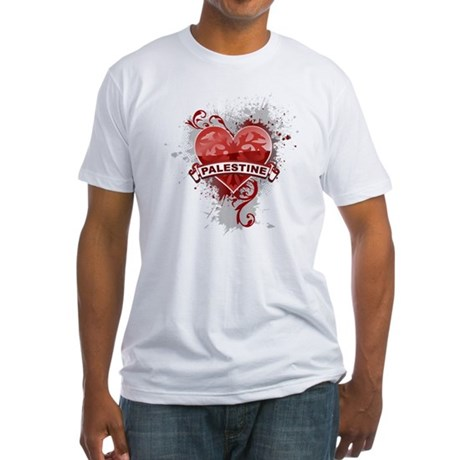 Heart Palestine Fitted T-Shirt