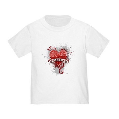 Heart Palestine Toddler T-Shirt