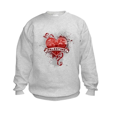 Heart Palestine Kids Sweatshirt