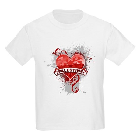 Heart Palestine Kids Light T-Shirt