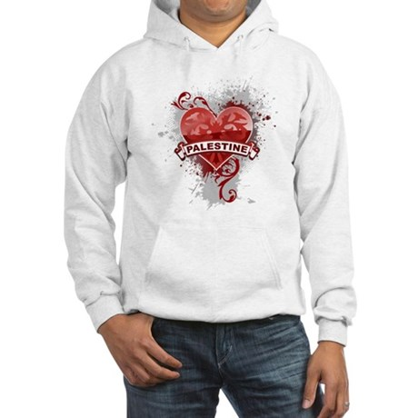 Heart Palestine Hooded Sweatshirt
