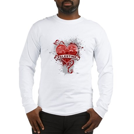 Heart Palestine Long Sleeve T-Shirt