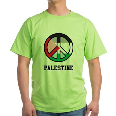Peace In Palestine Green T-Shirt