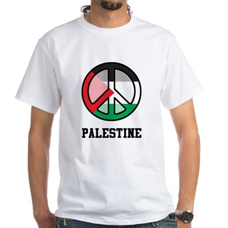 Peace In Palestine White T-Shirt
