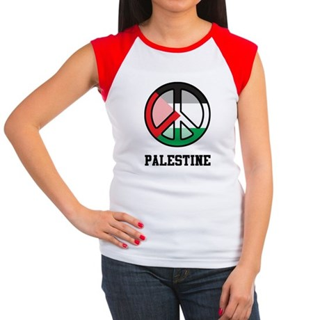 Peace In Palestine Women's Cap Sleeve T-Shirt
