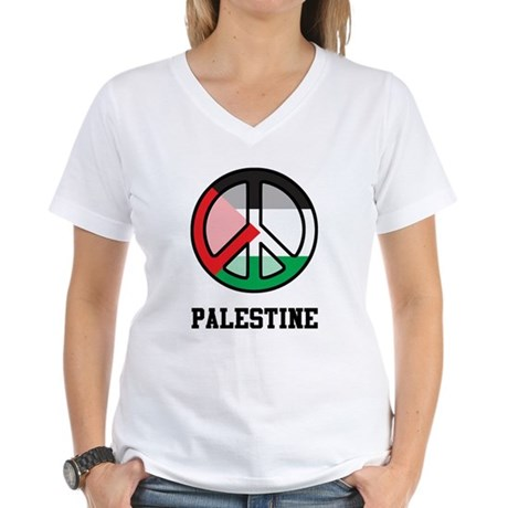Peace In Palestine Women's V-Neck T-Shirt