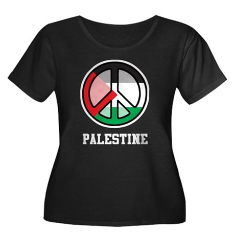 Peace In Palestine Women's Plus Size Scoop Neck Da