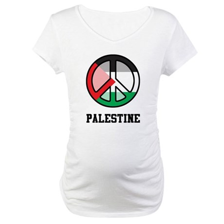 Peace In Palestine Maternity T-Shirt