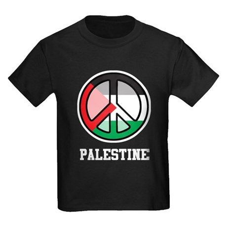 Peace In Palestine Kids Dark T-Shirt