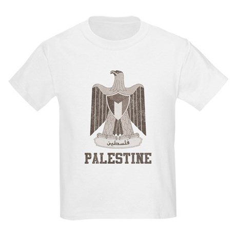 Vintage Palestine Kids Light T-Shirt