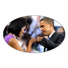 Obama Fist Bump Oval Decal