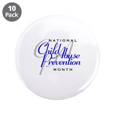 "Child Abuse Prevention 3.5"" Button (10 pack)"
