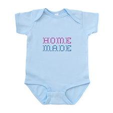 Home Made: Pink & Blue Infant Bodysuit