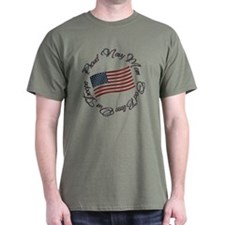 God Bless Our Troops, Proud Navy Mom T-Shirt