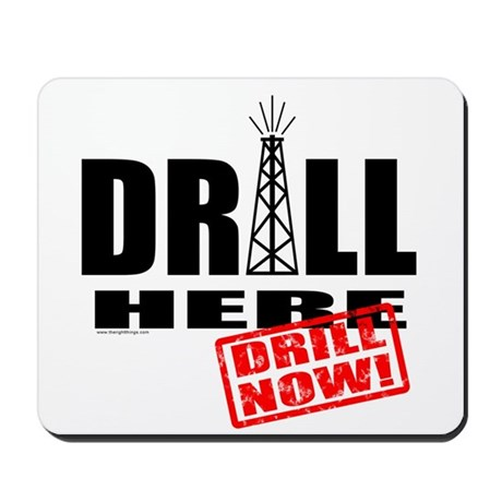 Drill Here and Now Mousepad