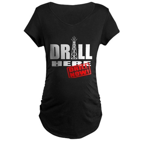 Drill Here and Now Maternity Dark T-Shirt
