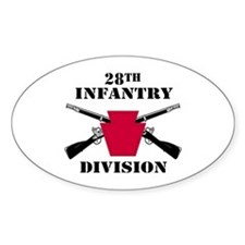 28th Infantry Division (1) Oval Decal