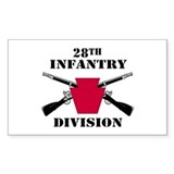 28th Infantry Division (1) Rectangle Decal