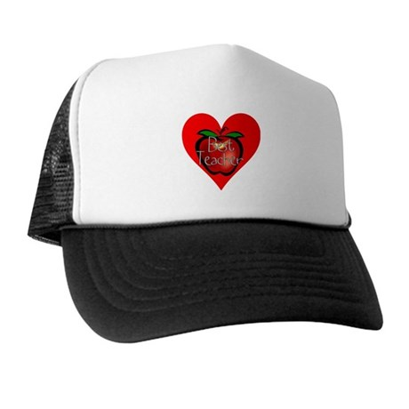 Best Teacher Apple Heart Trucker Hat