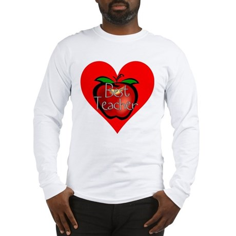 Best Teacher Apple Heart Long Sleeve T-Shirt