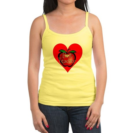 Best Teacher Apple Heart Jr. Spaghetti Tank