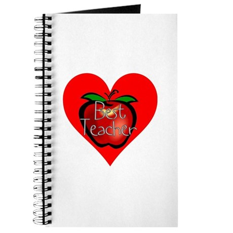 Best Teacher Apple Heart Journal