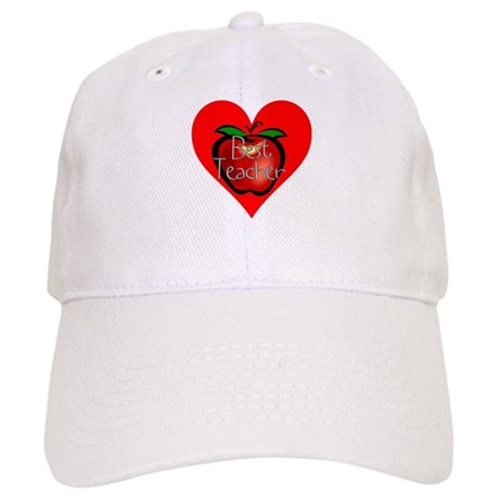 Best Teacher Apple Heart Cap