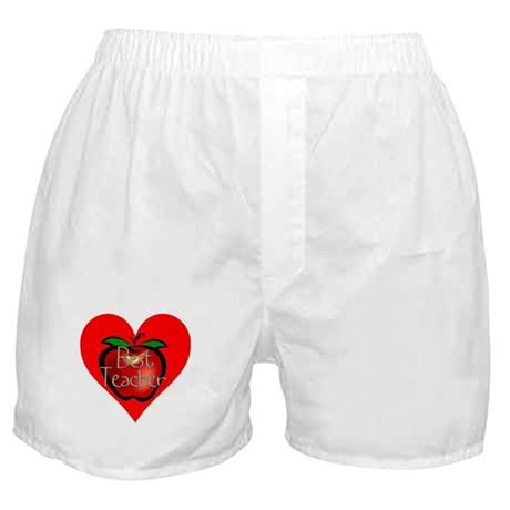 Best Teacher Apple Heart Boxer Shorts