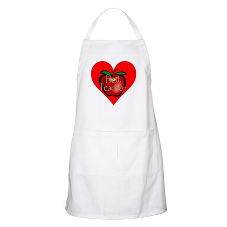 Best Teacher Apple Heart BBQ Apron