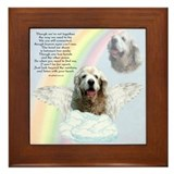 Cocker Spaniel Rainbow Bridge Framed Tile