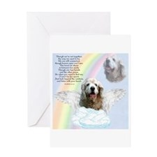 Cocker Spaniel Rainbow Bridge Greeting Card