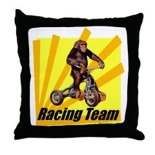 """Racing Team"" -Color Throw Pillow"