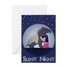 Tapir's Silent Night Greeting Card