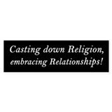 &amp;quot;Embracing Relationships&amp;quot; Bumper Bumper Sticker