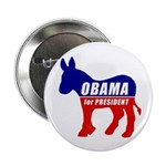 "Obama Democrat Donkey 2.25"" Button (10 pack)"