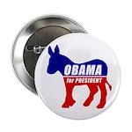 """Obama Democrat Donkey 2.25"""" Button"""