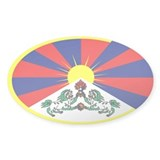 tibetan flag Oval Decal