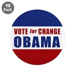 """Vote for Change Obama 3.5"""" Button (10 pack)"""